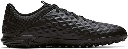 Nike Unisex-Adult Legend 8 Academy TF Football Shoe, Schwarz Black Black 010, 43 EU