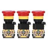 Weikeya Botón de Empuje Conveniente, Mushroom EMPRENDO Detener Estándar de Control de Calidad Pulsar el botón 440V Hecho de plástico