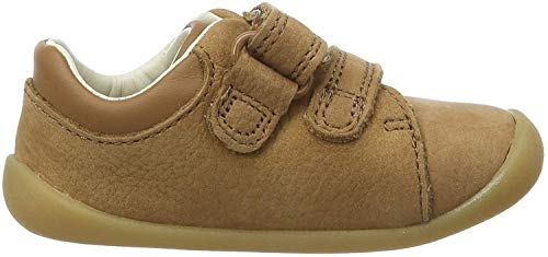 Clarks Jungen Roamer Craft T Sneaker, Braun (Tan Leather Tan Leather), 22 EU