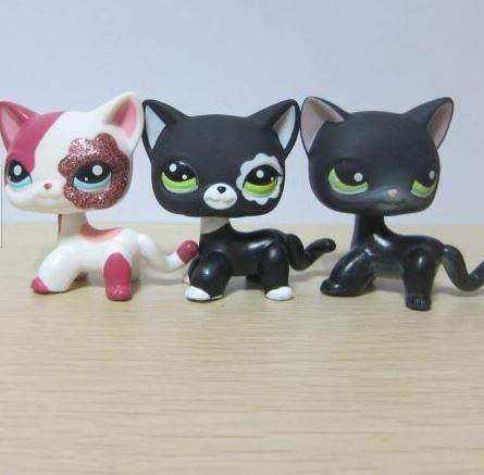 3pcs/Lot Kid Toy Littlest Pet Shop Shorthair Cat LPS#2291#2249#336