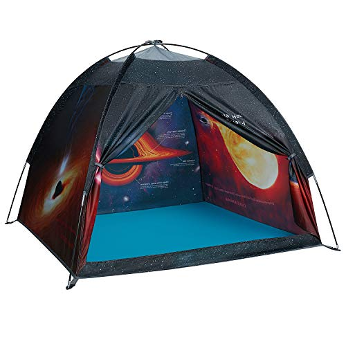 Exqline Space Kids Play Tent, Children Black Hole Playhouse Portable Space Theme Play Tent for Boys Girls Indoor and Outdoor Playing and Camping Tent, Gift for Kids, 120x120x110 cm