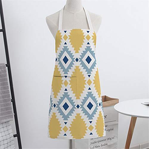 YXDZ National Wind Coton Art De Lin Cuisine À La Maison Cuisine Tablier De Cuisson Hommes Et Femmes Taille Taille Robe De Chef National Vent 6
