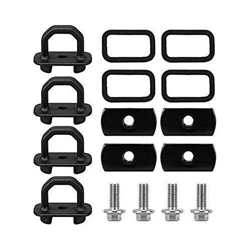 BXU-BG For Chevy ancla Vagón 4 piezas Set Tie Downs ancla adapta a 07-18 Gmc Sierra de carga, 15-18 Chevy Colorado y GMC Canyon modelo de camión de cama lado de la pared Anclas