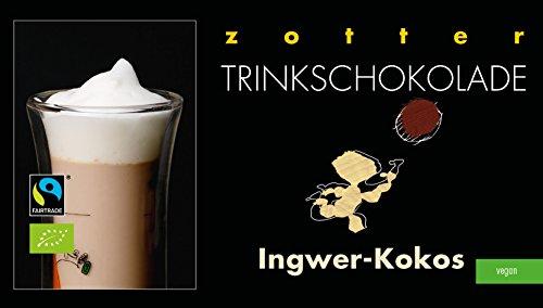 Zotter Trinkschokolade Ingwer-Kokos 5 x 22 g