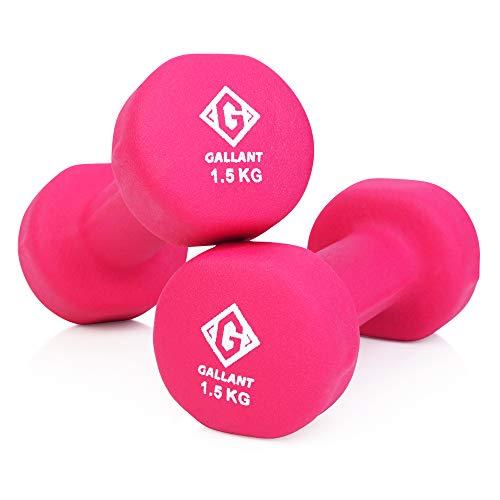 Gallant Neoprene Hand Weights Dumbells | Excellent Dumbbells Pair for Men Women | Weight Set - 1.5kg X2