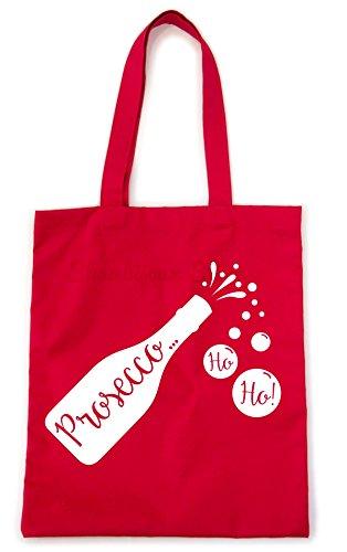 Weihnachten Prosecco HO HO. Tasche–perfekte Weihnachten Geschenk, Rot - rot - Größe: One Size