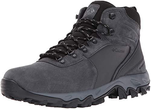 Columbia Men's Newton Ridge Plus II Suede Waterproof Hiking Boot, Shark/Black, 12