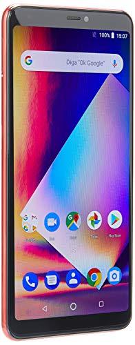 Smartphone Multilaser MS60Z 2GB RAM Tela 6' IPSHD 16GB Android 8.1 Câmera 13MP+13MP Preto/Vermelho + Cartão Memória 32GB - NB742