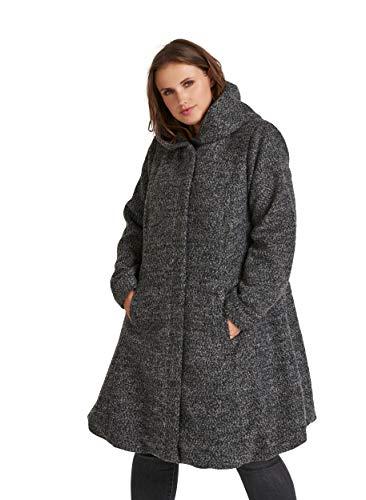 Zizzi Damen Große Größen Mantel Kapuze Jacke Klassisch Wintermantel Gr 42-56