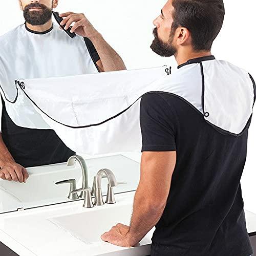 Telo Barba Con 4 Ventose, Kit Grembiule Barba,Sagoma Barba, Idee Regalo Uomo