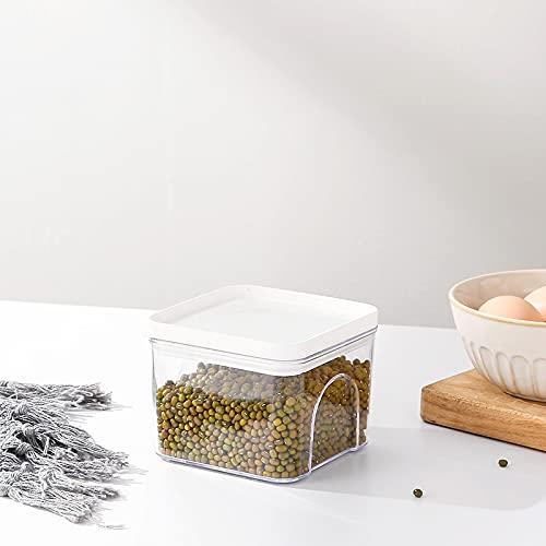 YAUKET Recipientes De Almacenamiento/Transparentes Contenedores para Alimentos/Apilables Kitchen Organizer Refrigerador/Jarra De Plastico/Contenedor para Cereal/Envase De Ensalada Fresca,A-S