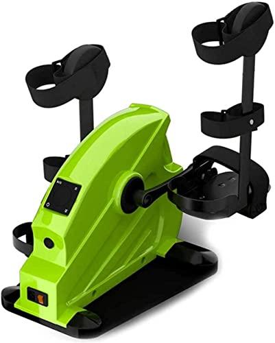 RRB RRB Bicicleta de rehabilitación Mini Entrenador portátil RRB Debajo del Escritorio Ejercitador de recuperación del Brazo de la Pierna Entrenamiento Cardiovascular con Resistencia Ajustable-D