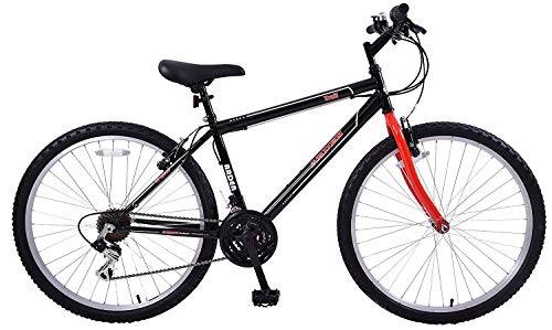 Arden Trail 24' Wheel Girls Boys Kids Mountain Bike 13' Frame Black/Red 21 Speed Ages 8+