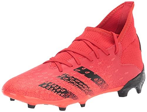 adidas Firm Ground Predator Freak .3 Soccer Shoe (boys) Red/Black/Solar Red 4 Big Kid