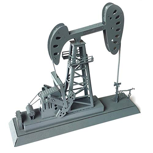 Yamix HO Scale Drilling Rig Model, 1:87 Scale Oil Derrick Rig Oil Pump Kit HO Scale Building Kit Model Train Accessories