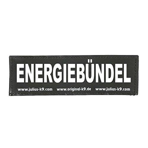 Julius-K9 162LR-K-50629 Klettaufschrift, Energiebündel, klein, schwarz