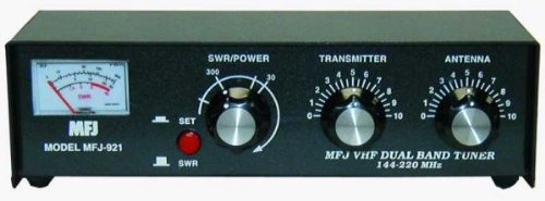 MFJ-921 Manual Tuner + SWR: 2m/1.25m, 30/300W. Buy it now for 121.89