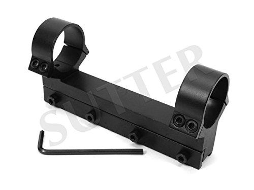 SUTTER Extra Starke Montageschiene/Durchmesser: 30mm / Höhe: 60mm / Länge: 120mm / Montageringe für Zielfernrohr RedDot und Zielvisier