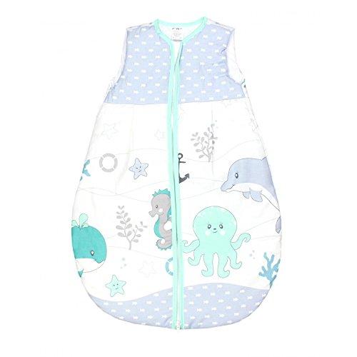 TupTam Baby Schlafsack Wattiert ohne Ärmel ANK001, Farbe: Ozean Grün, Größe: 80-86
