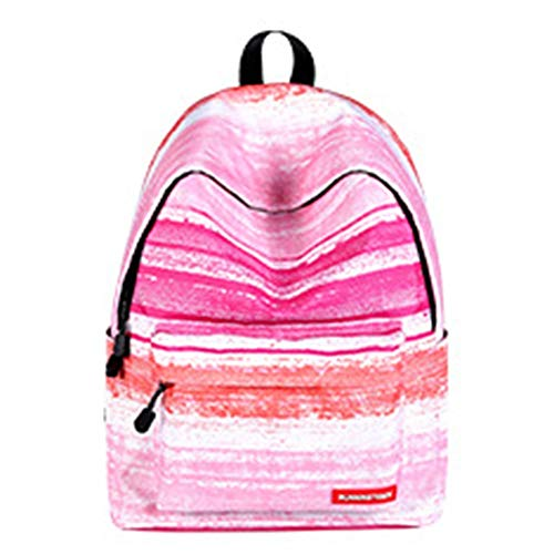 VSander Student Business Travel Polyester Bag Pink Striped Pattern Air Cushion Strap, Suitable For College Students, 14-inch Computer Interlayer, Men And Women Breathable Shoulder Bag