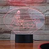 lampara 3D Pared 16 Cambios de Color Cultivo Cultural Chino Lámpara de Mesa lámpara de Dormitorio lámpara de Color Regalo de cumpleaños