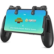 【1 Set】 IFYOO Z108 Mobile Gaming Controller Compatible with PUBG Mobile/Compatible with Fortnitee Mobile - Sensitive Shoot and Aim Trigger L1R1 with Gaming Grip, Compatible with Android & iPhone