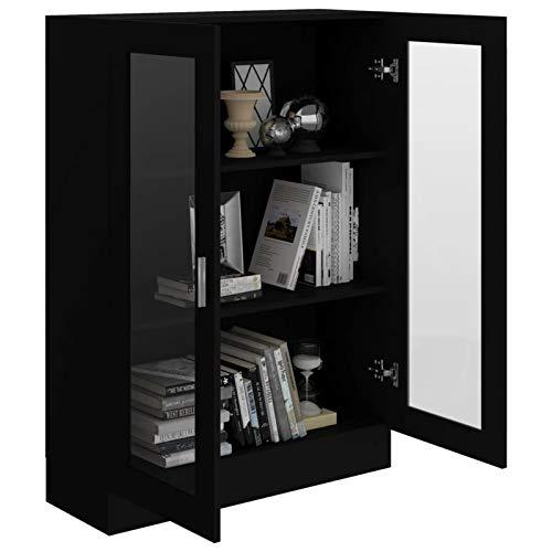 Festnight Aparador Salon | Armario Salon |vitrinas para Salon | Librerías de salón | Armario de Almacenamiento | Aparador Cocina Negro,82,5x30,5x115 cm