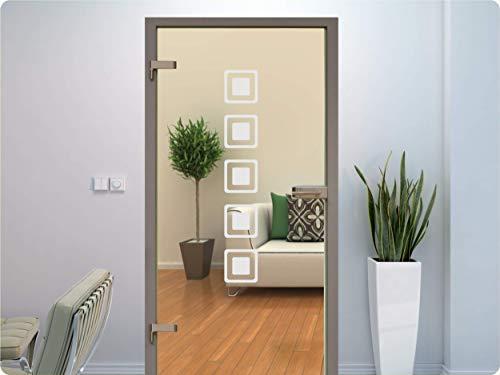 rs-interhandel® Glastür Aufkleber Tattoo Folie Glasdekor Fensterfolie Sichtschutz Wohnzimmer, Bad, Küche oder für alle Glasflächen Sichtschutzfolie für Türen GDT041