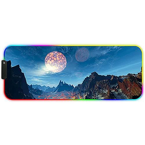 DORRISO RGB Alfombrilla de Ratón Juego Grande 800x300x3 mm XL Gaming Alfombrilla...