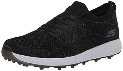 Skechers GO GOLF womens Max-glitter Golf Shoe, Black/Multi, 11 US