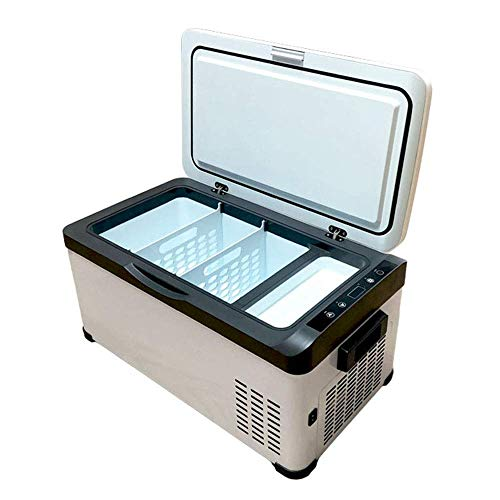 HRRF Mini refrigerador de 20 litros, pequeño congelador de refrigerador de Coche portátil, congelación del compresor -20 ° C, Panel LCD Digital, Mudo