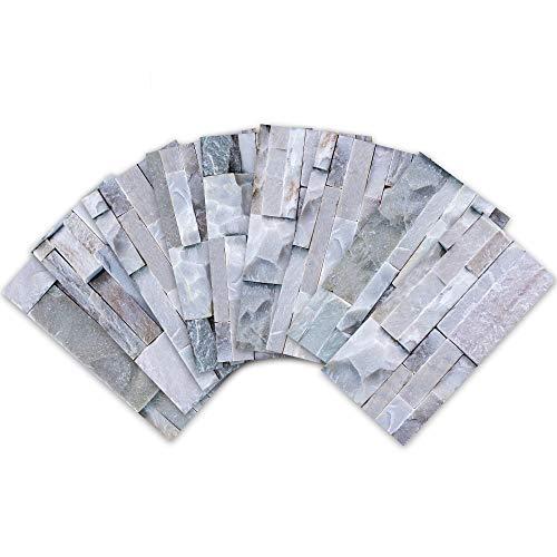 BOINN Cocina Cuarto de Ba?O Pelar y Pegar 3D Autoadhesivo Mosaico Escalera Azulejo Pared Pegatina -18 Piezas