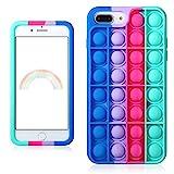Besoar Blue Rose para iPhone 6 Plus/6S Plus/7 Plus/8 Plus 5.5' Funda Diseño Gracioso Dibujos Niños Niñas Mujer Lindo Precioso Moda Suave Divertido Frio Burbuja Casos para iPhone 6/6S/7/8 Plus 5.5'
