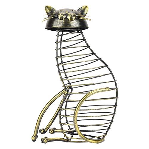 Aigid Envase del Corcho, decoración de la Tabla del Soporte del Almacenamiento del tapón de la Botella del envase del Corcho del Vino Tinto en Forma de Gato