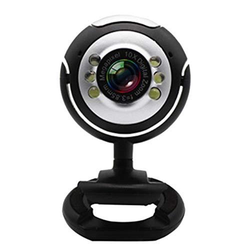 YDong Cámara de Video USB para Computadora Seis Luces, Visión Nocturna, No Unidad, Cámara de Clip, Red de Cámara HD