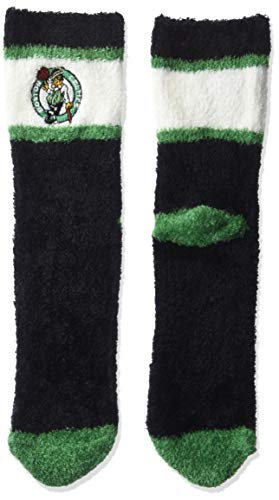 OTS NBA Boston Celtics Women's Diggory Fuzzy Half Crew Sock, Team Color, Medium