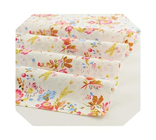 Tissu au mètre | Tissu de coton fleur rose clair matelassé 50 cm x 160 cm/pièce Literie Patchwork Scrapbooking Textile de Maison -