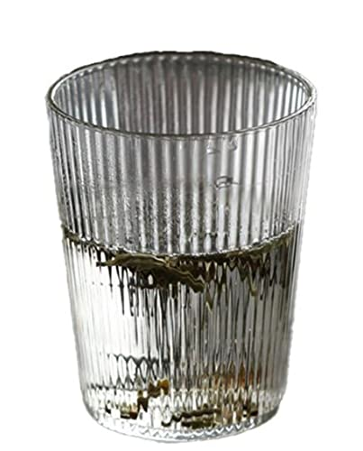 WIITON Vaso de Cerveza con diseño Vertical de Estilo Europeo Simple Vaso de Cerveza Whisky Cristal Transparente Vaso de cóctel 11 oz, 8 Piezas,A 9oz(250ml),8 Pieces