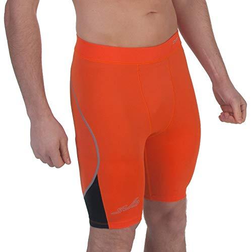 Sub Sports Dual 2.0 Short DE Compression Homme - Orange/Noir - L