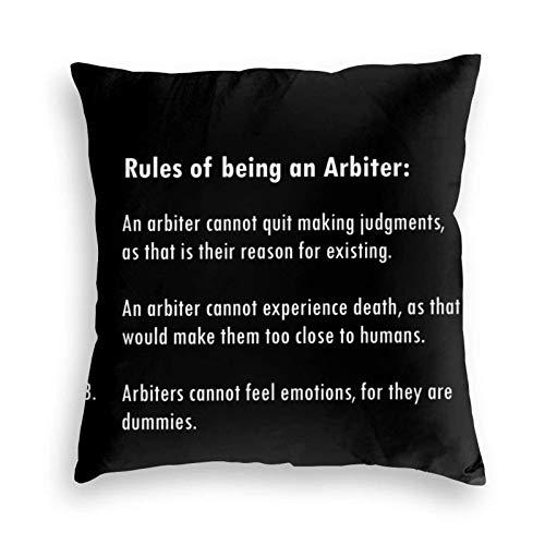 BEDKKJY Death Parade - Rules of Being an Arbiter Design Funda de Almohada de Terciopelo Negro Funda de Almohada para el Suelo Cojín para sofá