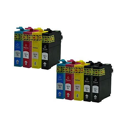 ZYL - Cartuchos de tinta compatibles para Epson 18XL XP-313 XP-413 XP-215 XP-315 XP-415 XP-102 XP-202 XP-205 XP-212 XP-30 XP-302 XP-305 XP-402 XP-405 XP-405WH XP-312 XP-212 XP-33 XP-225 (9 x 2 + 2 + 1 negro)