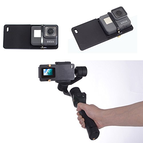 Switch Mount Board Plate for GoPro Hero 7/6/5/4/3+ Xiaomi Yi 4K etc. Action Camera to Mount on DJI OSMO Mobile 2 1/ Zhiyun Smooth C, Smooth Q 4 3 2 etc. Handheld Gimbal Stabilizers