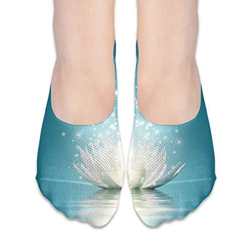 Calcetines ocasionales de loto mágico mujeres y hombres calientes gruesos patrón casual calcetines caseros