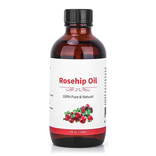 118ML Pure Natural Rosehip Plant Essential Oil for Replenish Moisture, Nutrients to Skin, Lighten Fine Lines, Lift and Firm Skin, Doux, Safe, Healthy and No Stimulation.