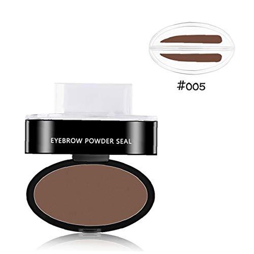 Poudre Imperméable À L'eau En Poudre Sourcils Stamper Sourcils Professional Seal Kit Sourcils Teinter Set Coloriage Forme Délicat Maquillage Rapide Outil 005 1pc ??pour Cadeau
