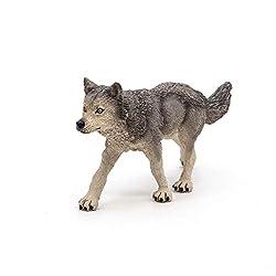 Papo Wild Animal Kingdom Figure, Grey Wolf