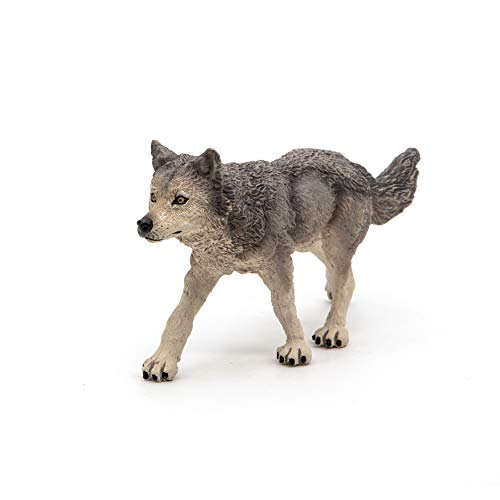Papo Wild Animal Kingdom Figure, Grey Wolf