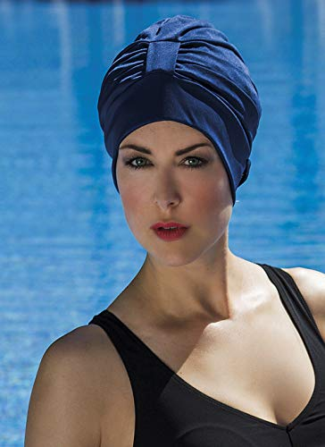 Fashy - Gorro de natación para mujer, tamaño único, color marino
