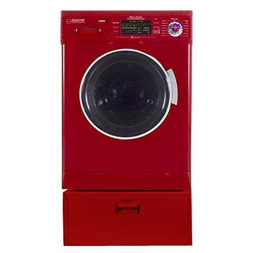 Equator Merlot All-in-one Compact Combo Washer Dryer with Pedestal Storage Drawer