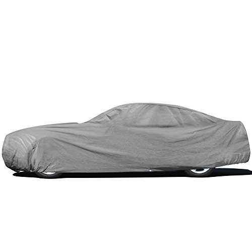 OxGord Custom Fit Car Cover for Select Ford Mustang - Basic Out-Door 4 Layers -...